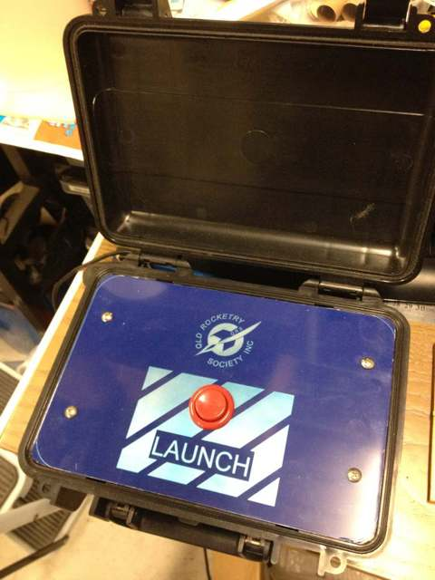 Queensland Rocketry Society launch button