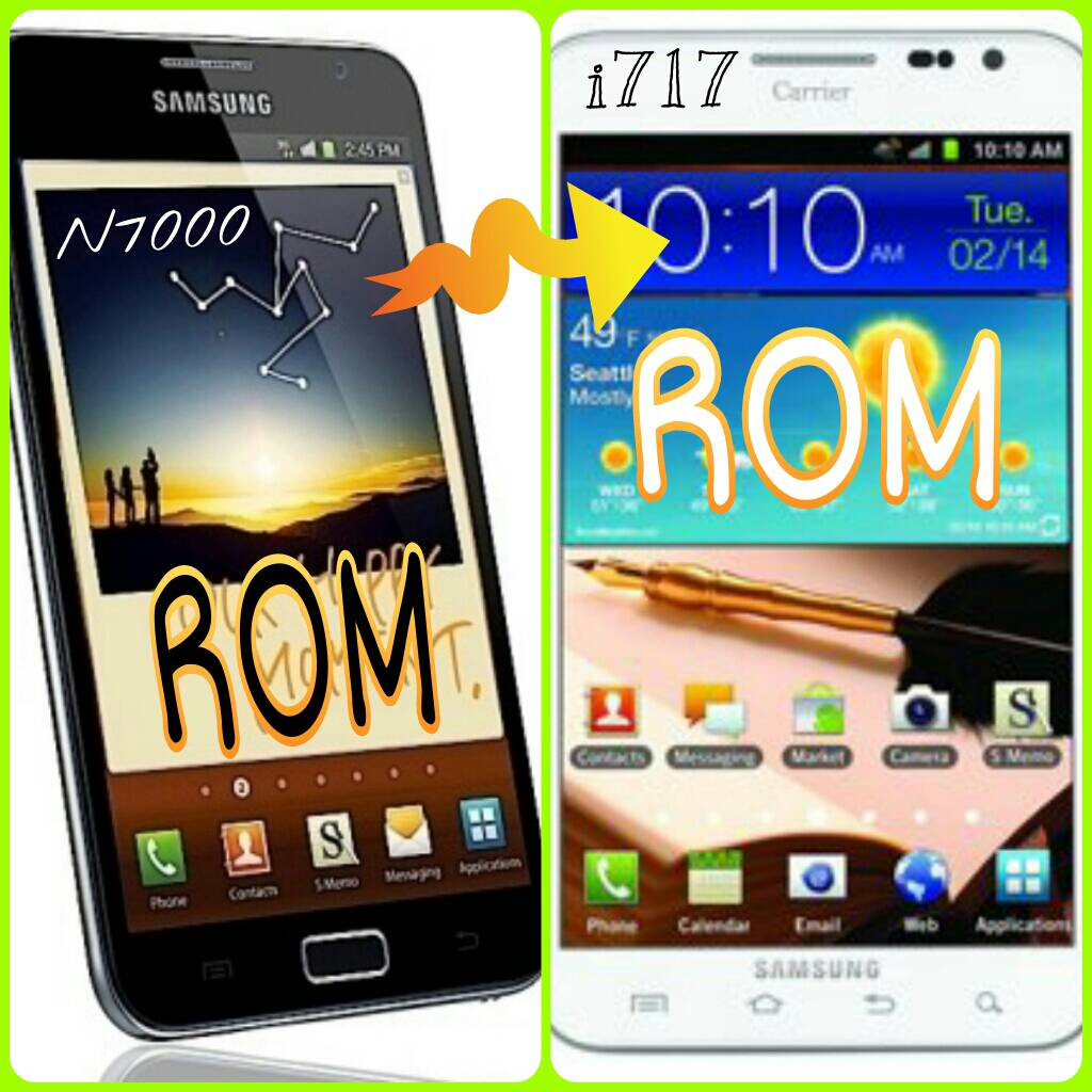 Note I717 vs Note 2 to Our Galaxy Note I717