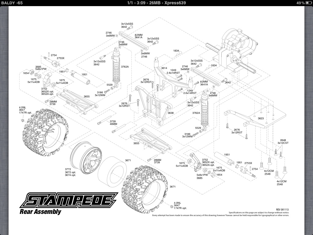 Traxxas stampede vxl parts diagram free download wiring diagram help heres the exploded views for your truck as well as the parts list to get you started with identifying the parts you need bandit vxl parts list traxxas pooptronica Images