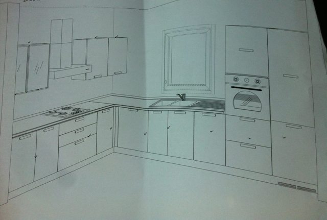 Cucine Moderne Ad Angolo Con Finestra. Excellent With Cucine ...