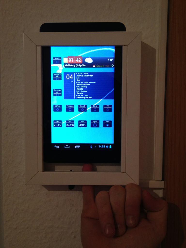 Befestigung und Anschluss Tablet an Wand • HomeMatic-Forum / FHZ-Forum