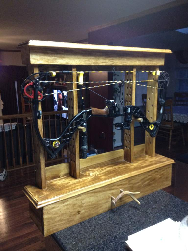 Show Off Your Homemade Wooden Bow Racksholders