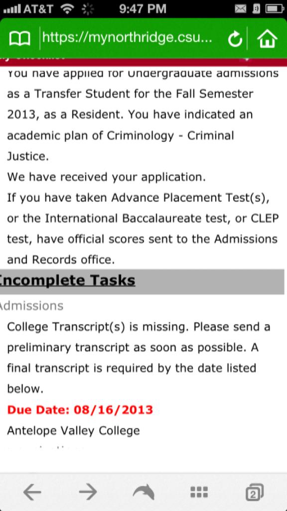 csu northridge application essay