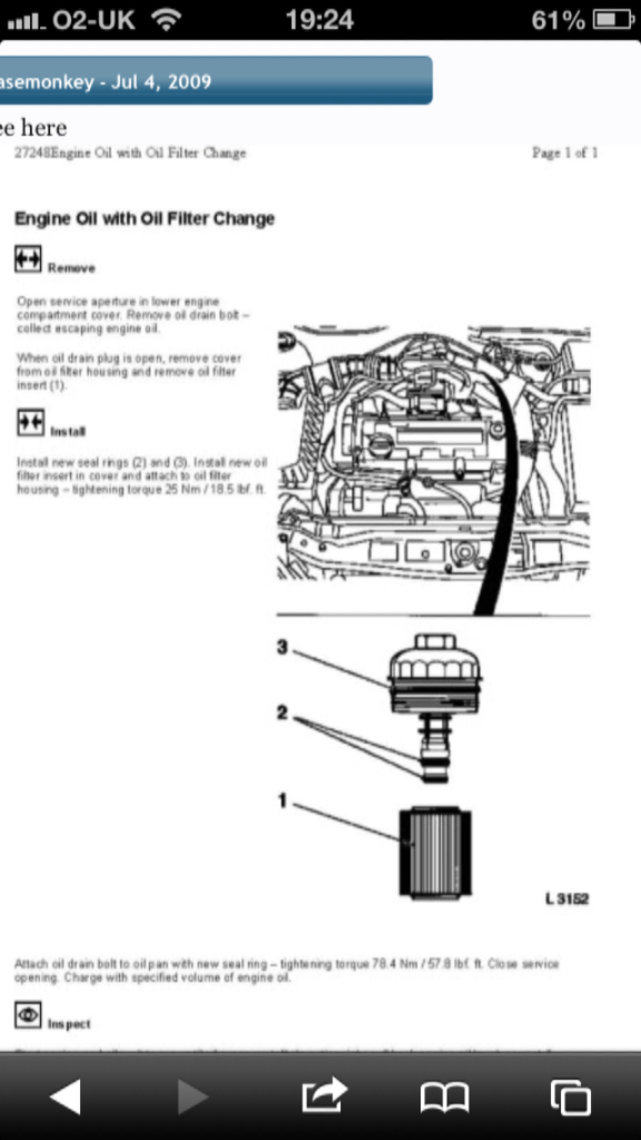 Help With Oil Change 17cdti Archive Astra Owners Work
