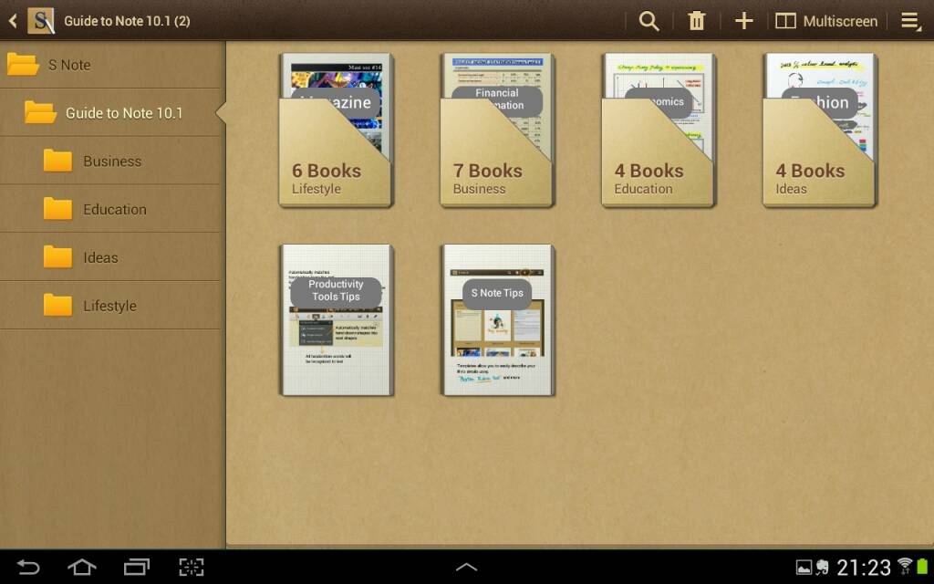 i ve lost my pre installed s note templates samsung galaxy note 10 1