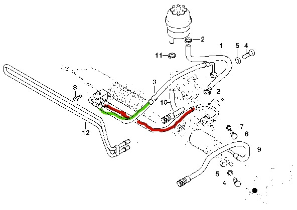 power steering line help bmw m3 forum com e30 m3 e36 m3 so one of my power steering lines cracked and started shooting fluid all over the place i found which line it is on a realoem diagram and have attached