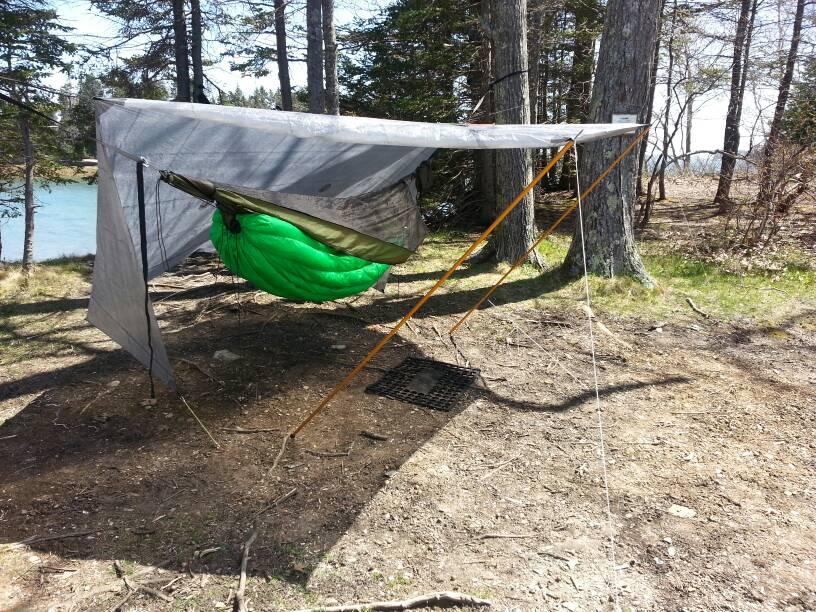 sent from samsonite using tapioca 2 hammock gear cuben fiber tarp  rh   whiteblaze