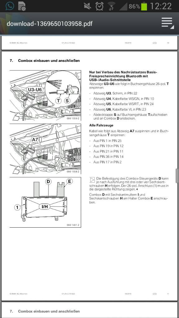 MULF auf Combox umpinnen - Car-Hifi & Telefon - BMW E90 E91 E92 E93 ...