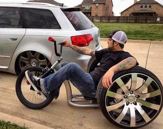 Drift Trike avec roues de voiture