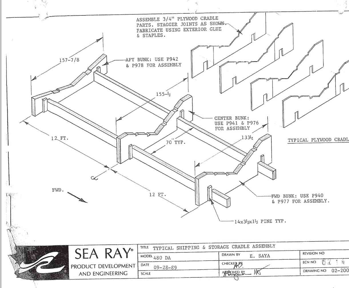 thinking about buying a yard trailer for my 500da club sea ray 1960 Cutter Boat img