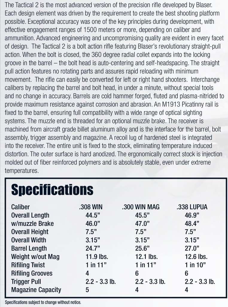 Blaser Tactical 2 (LRS 2, R93, R8) Loads | Sniper's Hide Forum