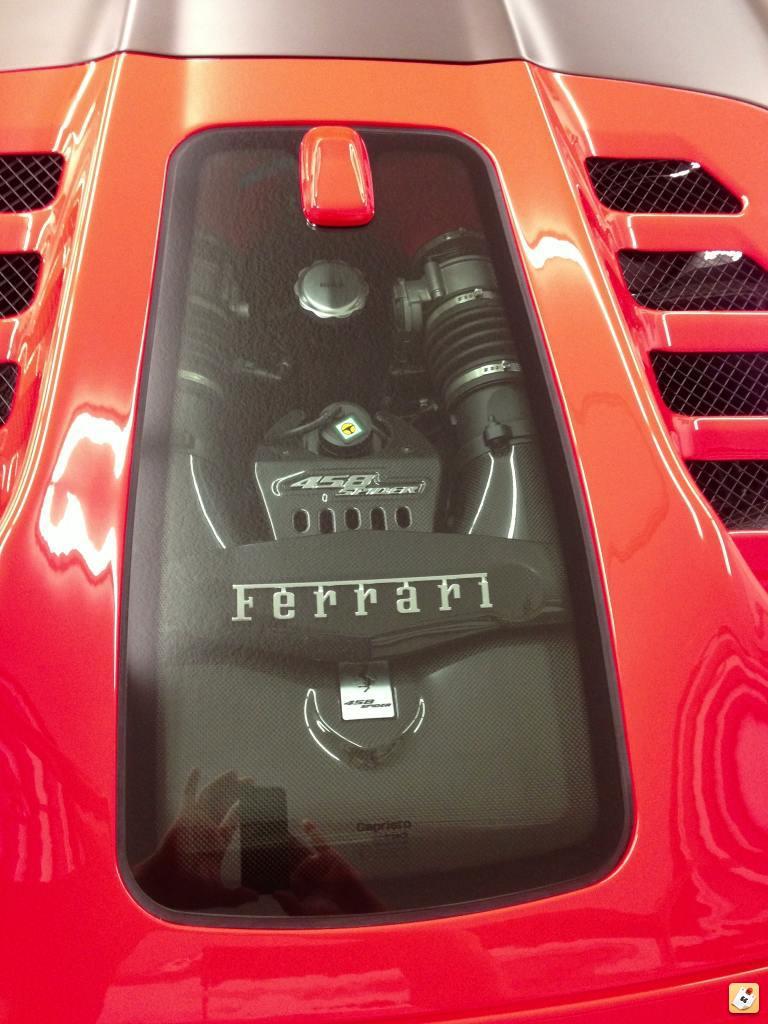Ferrari glass engine cover