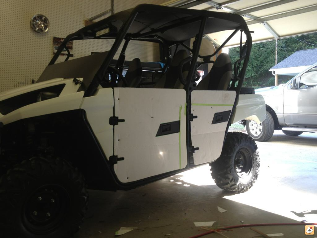 Keep in mind these are still not finished product I still have to line the door handles up and rigid mount & T4 door height extensions - Kawasaki Teryx Forum
