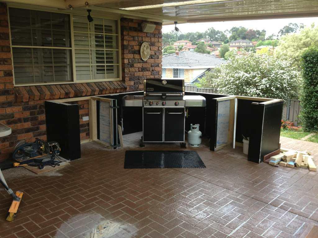 Weber genesis built into outdoor kitchen - Aussie BBQ Forum