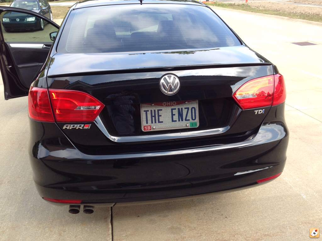 Here S A Pic Of The Car With New Badge Oh And I Justify Use My License Plate Because Name Is Enzo