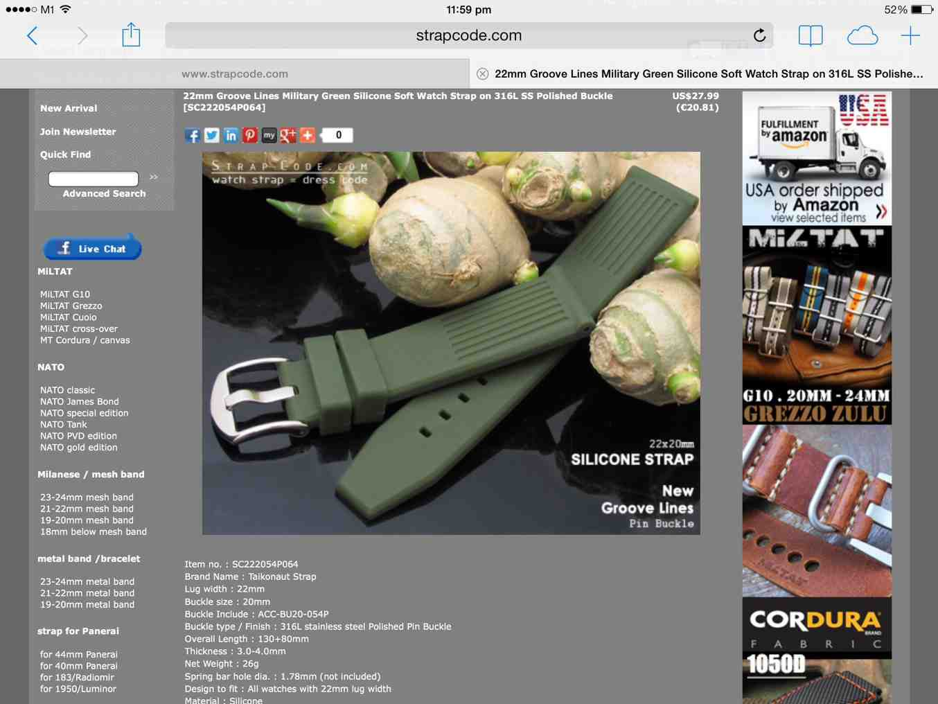 Where to find Green Rubber Strap for the SKX007 - Seiko