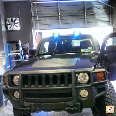 Hummer h3 roof mounted off road light bar 12300 about roof roof mounted off road lights hummer h3 h3t led top light bar mozeypictures Images