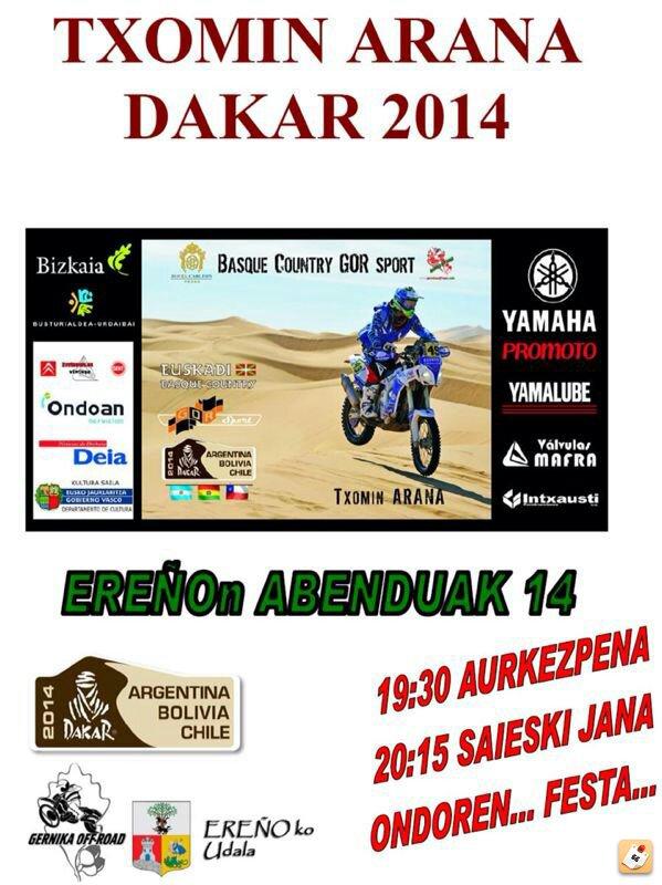 Gernika-Dakar 2014 Jeme8eda