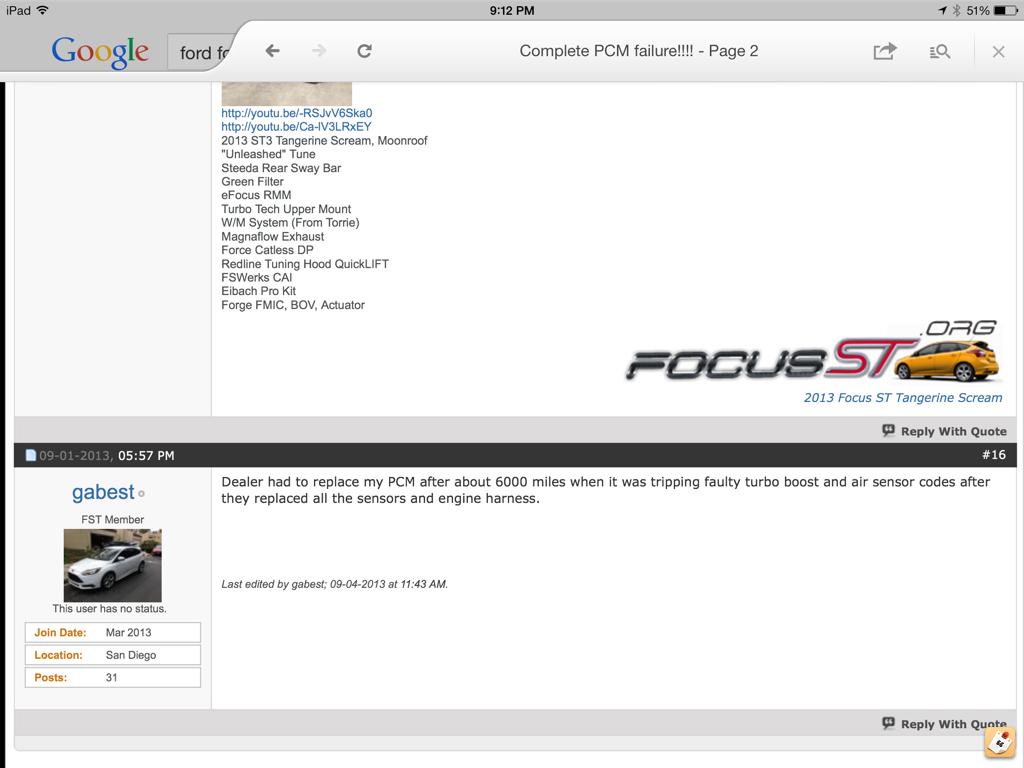 Complete PCM failure!!!! - Page 3