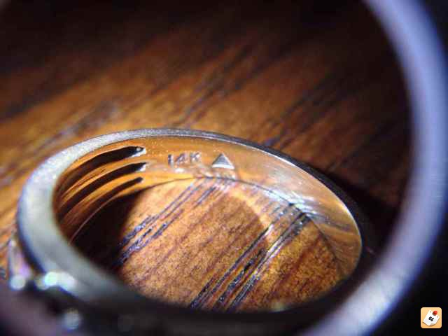 14K Gold Ring stamped with a triangle - Friendly Metal