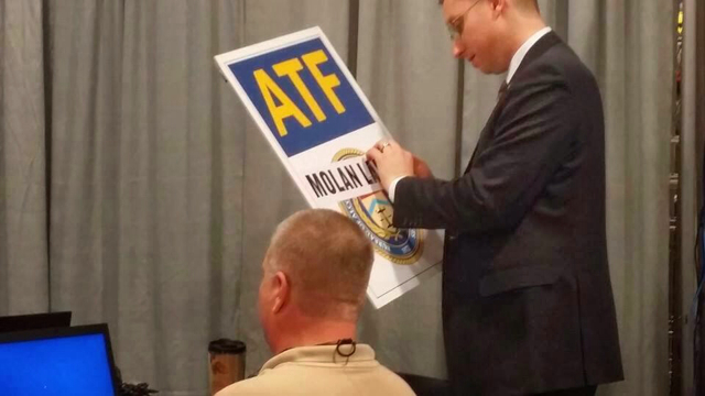 ATF Sign Defaced