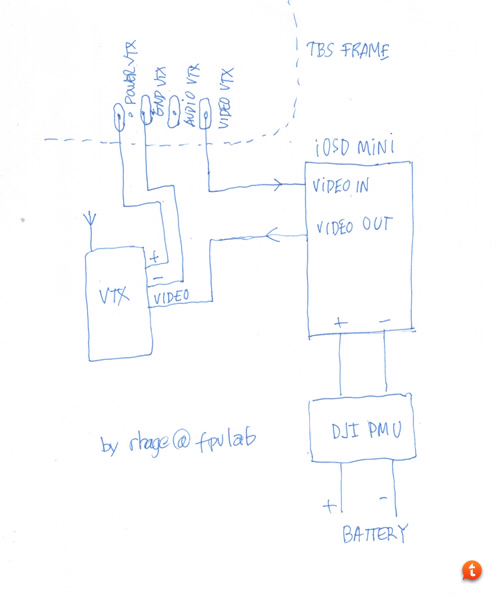 y8u2e3et how to connect the dji iosd mini to my tbs discovery frame iosd mini wiring diagram at virtualis.co