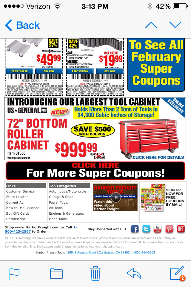 harbor freight coupon thread - page 230 - the garage journal board
