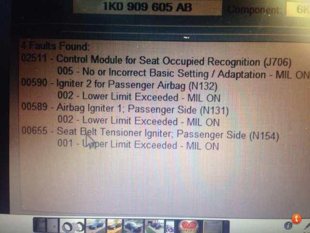 VWVortex com - what does this mean: 00588 - Airbag Igniter: Driver