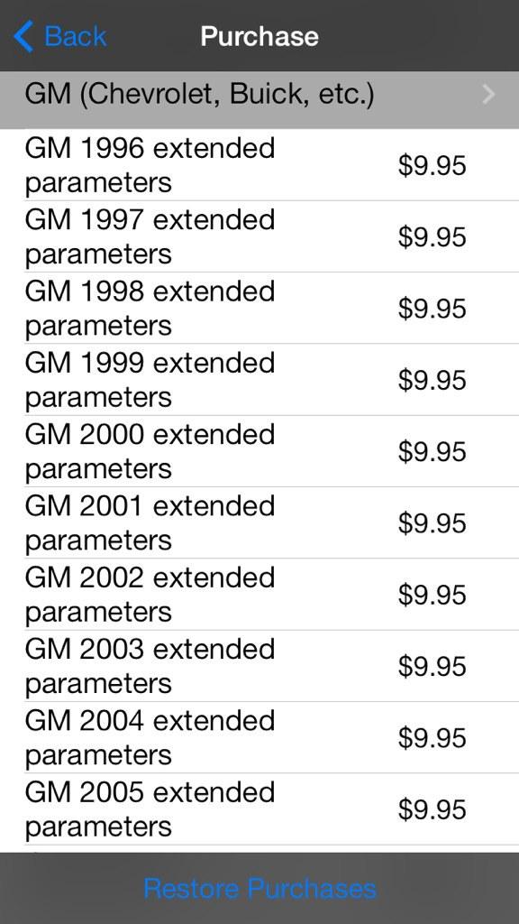 GM Enhanced PIDs for DashCommand   Just Commodores