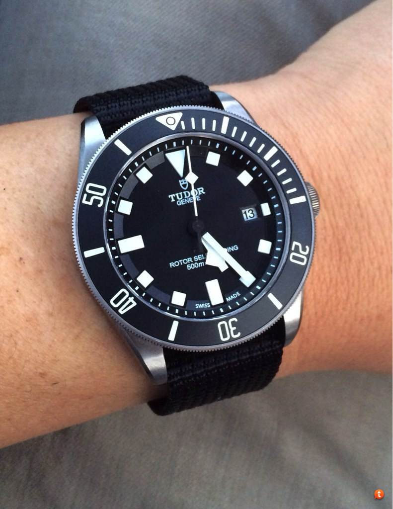 e604370015b Re  Pelagos and Black Bay Lug Width. I ended up chopping off two of the  rings for a more streamlined look. I like the thickness of these straps.