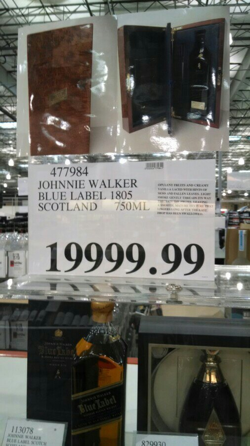 Hot Deal Johnny Walker Blue Label At Costco 209 Years Anandtech