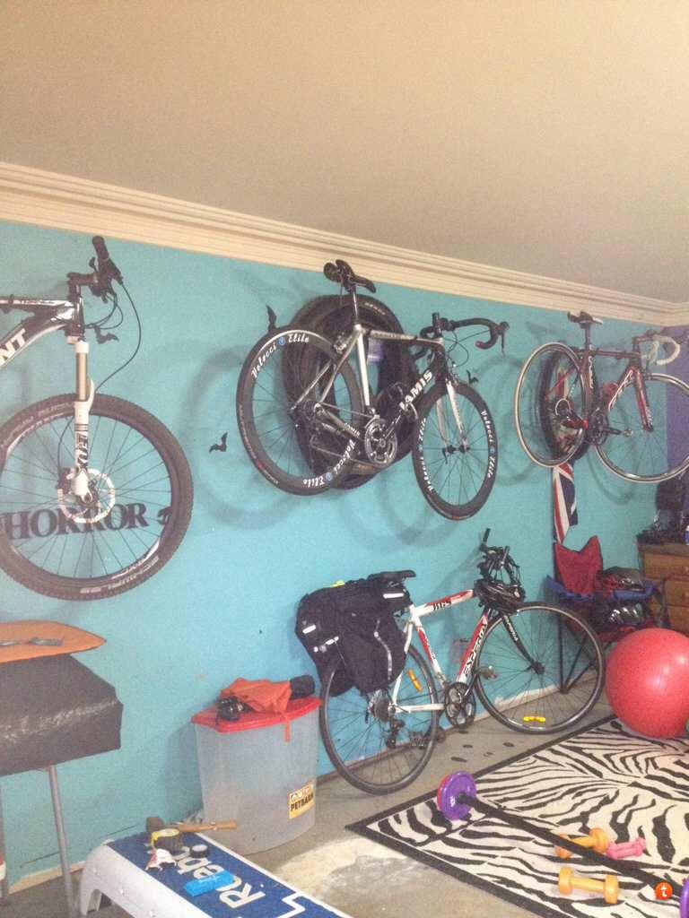 wall large bicycle id storage garage bike mount