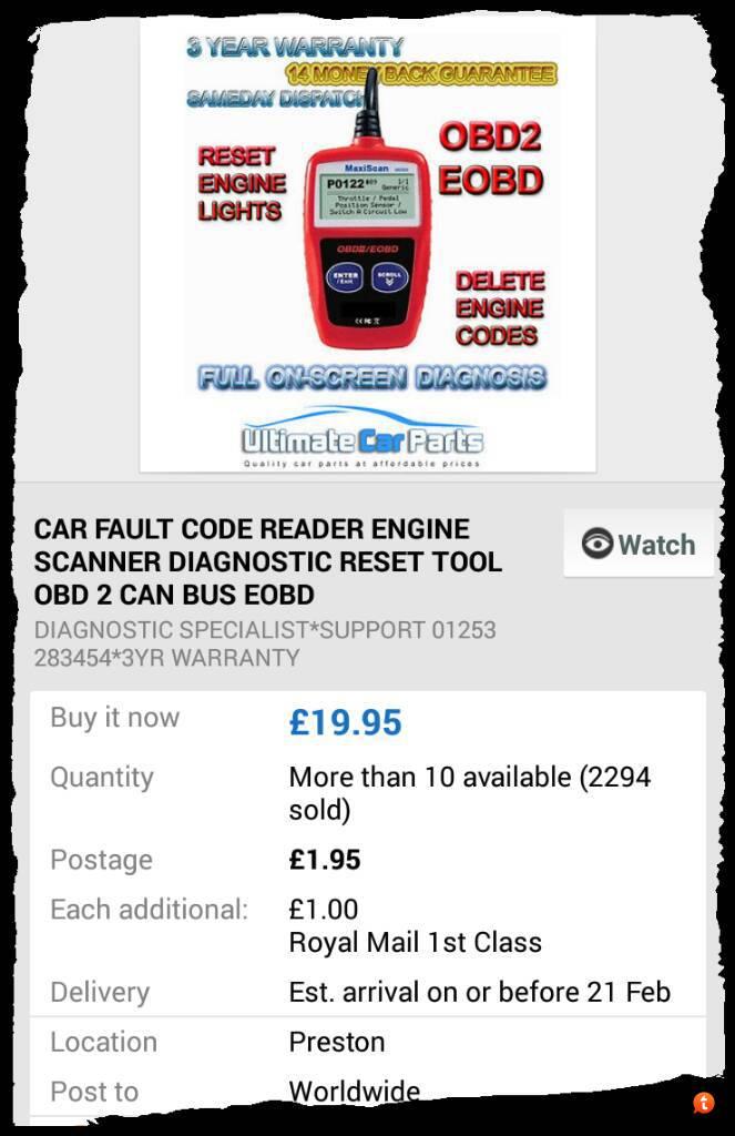 obd scanner/reader