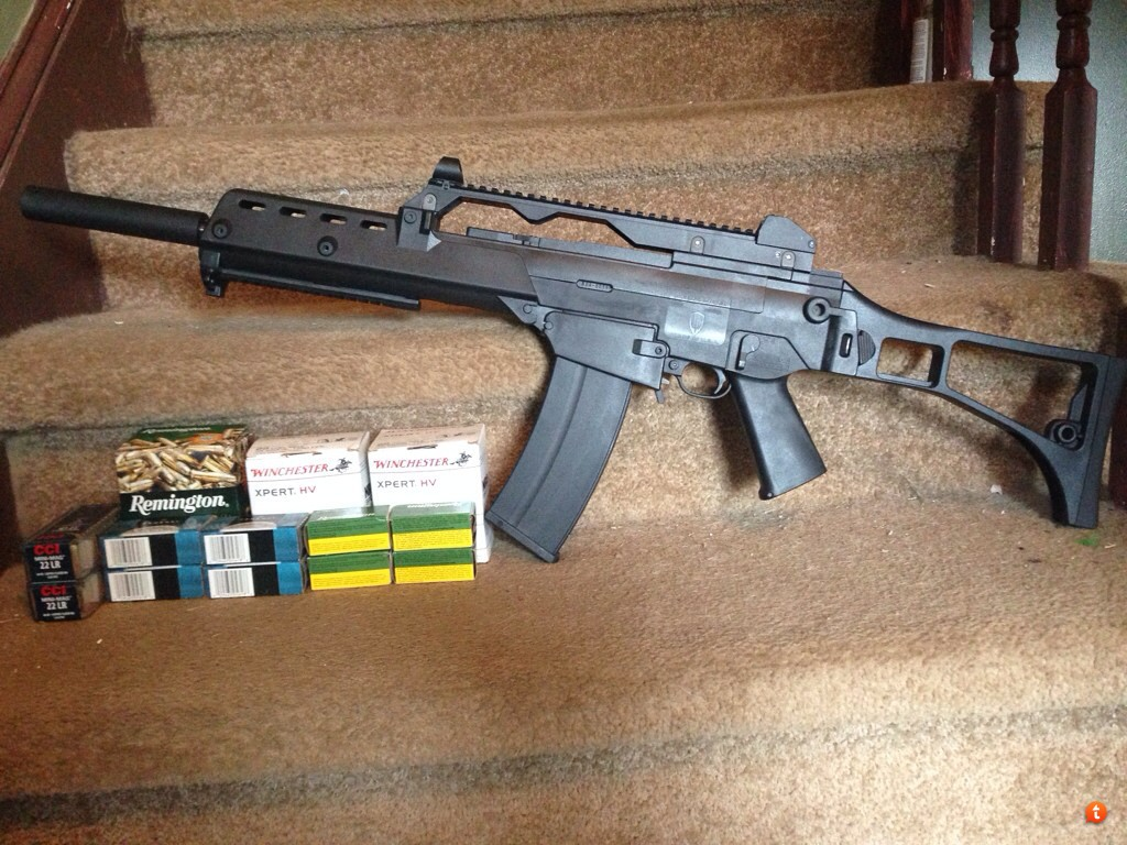 wts ruger 10 22 with archangel kit and 2200 rounds of ammo mostly