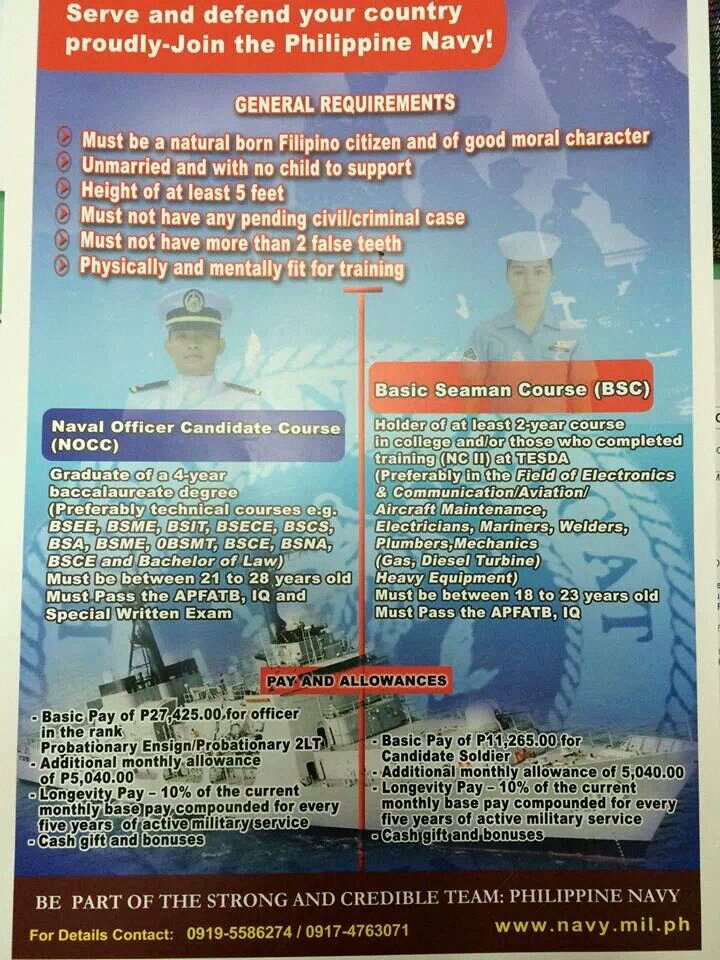 proxy - How to Join the Philippine Navy - Philippine Education