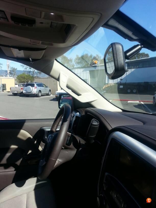 SilveradoSierra com • Adding driver's side grab handle