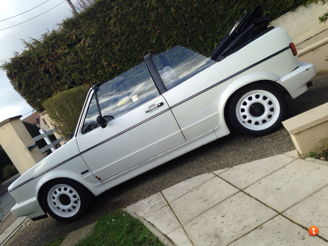 Golf cabriolet DX de 88 => Jantes, peinture et tringlerie Besemere