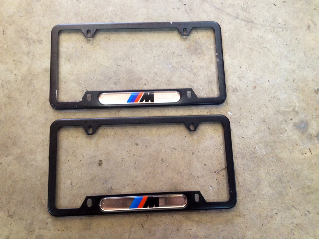 bmw m license plate frames