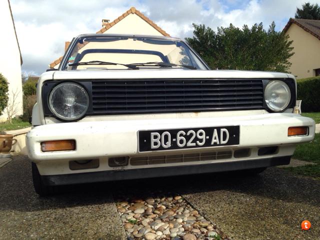 Golf cabriolet DX de 88 => Jantes, peinture et tringlerie Vezu5atu
