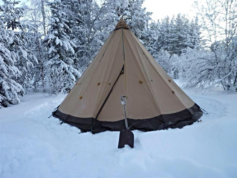 With one if their wood stoves as well. & Tipi vs Tent - Expedition Portal