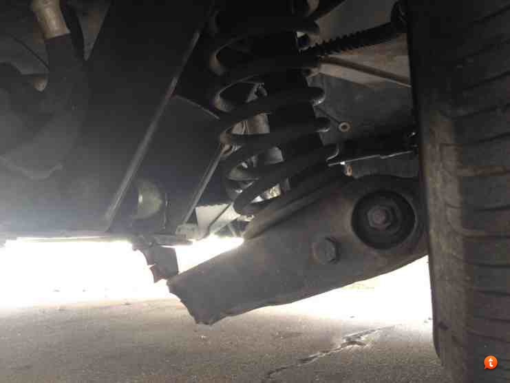 Control arm failure