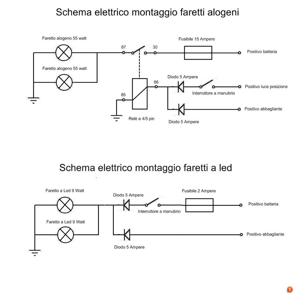 Schema Elettrico Relè Interruttore : Faretti supplementari consigli montaggio confronti [thread unico