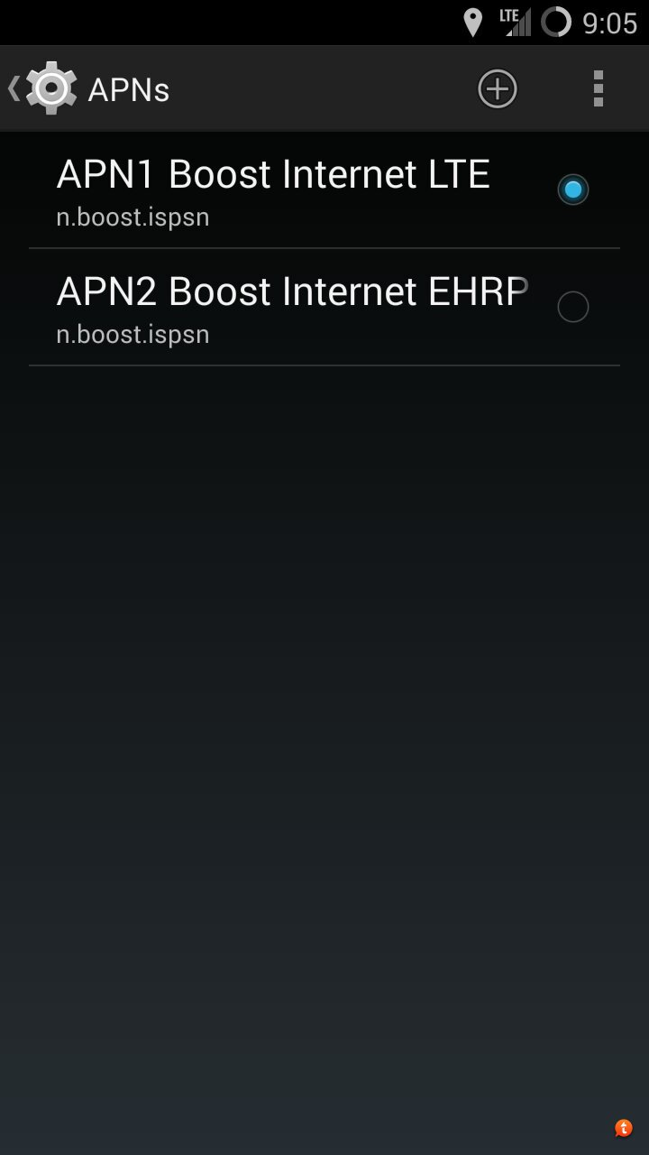 Boost Mobile] [MOD] Universal Boost APN fix for D2LTE builds