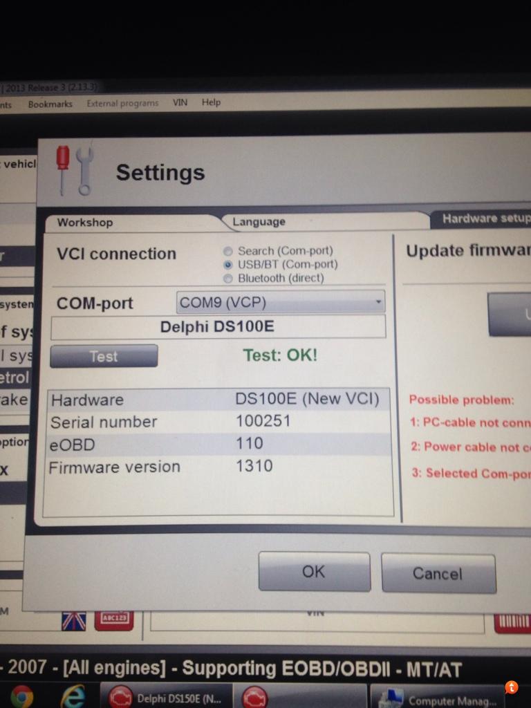 Delphi ds150e firmware issue