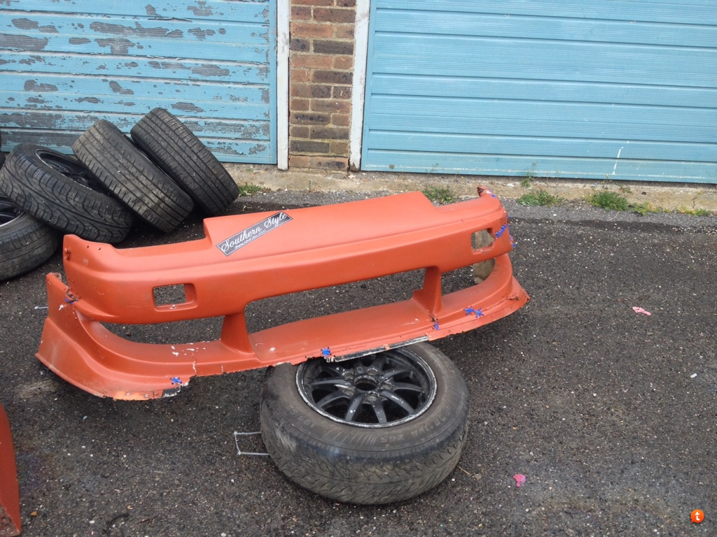 S13 uras style fibreglass body kit maybe salvageable? | Driftworks Forum
