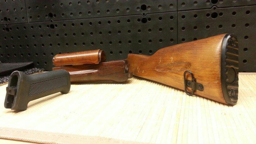 Stevens Savage 320 pistol grip stock AK 74 furniture