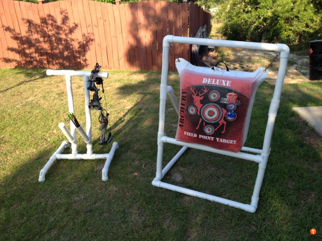 diy bow target stands