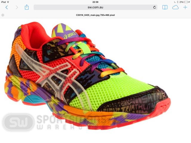 asics scarpe colorate