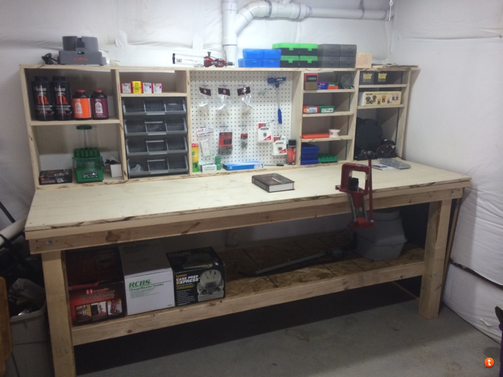 Delightful Worked On My Reloading Bench Today And Finished It. Just Need Some Brass  Now.