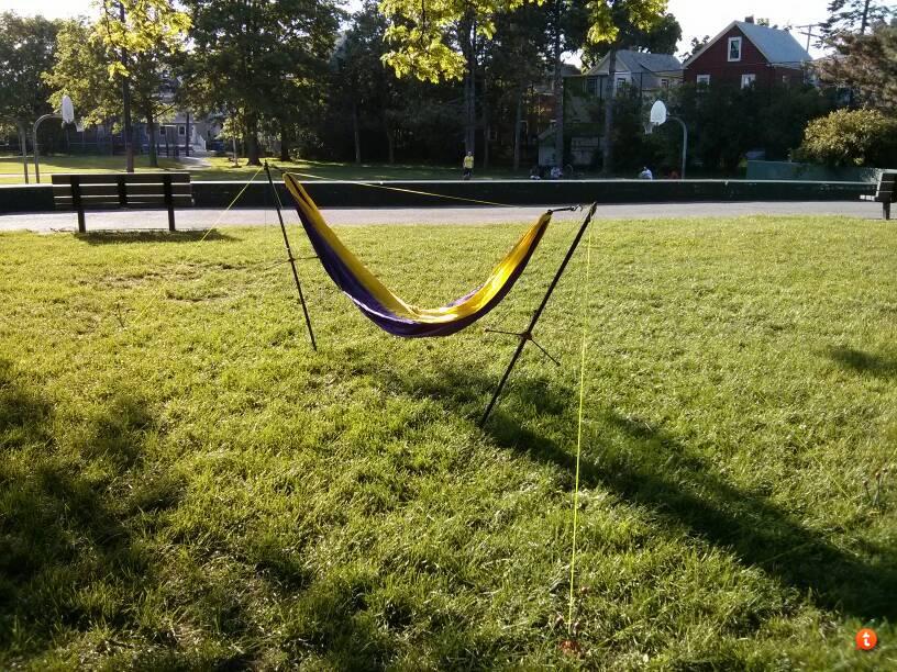 i plan on using this at a music festival  so i will have a hammock w  bug  uq and tarp  byer ceara hammock stand  rh   hammockforums